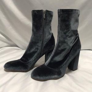 Sam Edelman Calexa Velvet Boots Sz 8